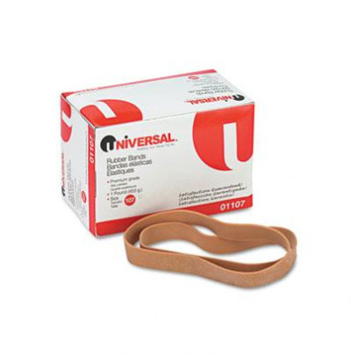 "Universal 7"" x 5/8"" Size #107 Rubber Bands, 1 lb. Pack"