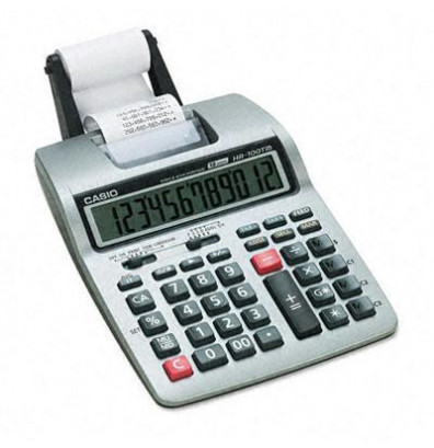 Casio HR-100TM Two-Color 12-Digit Portable Printing Calculator