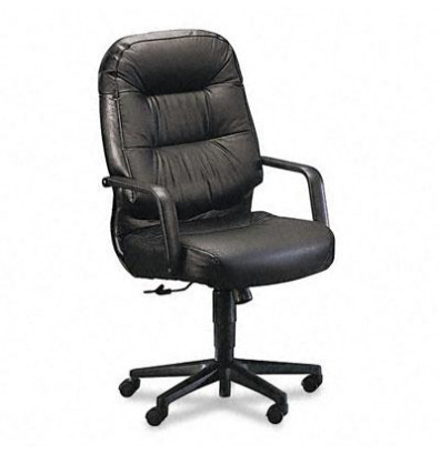HON Pillow-Soft 2091 Leather High-Back Executive Office ...