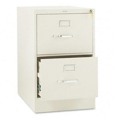 "HON 312CPL 2-Drawer 26.5"" Deep Vertical File Cabinet, Legal Size, Putty"