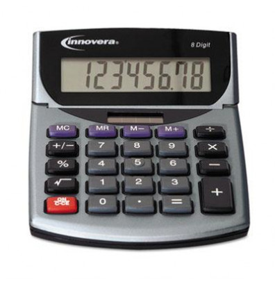 Innovera 15927 Portable 8-Digit Minidesk Calculator