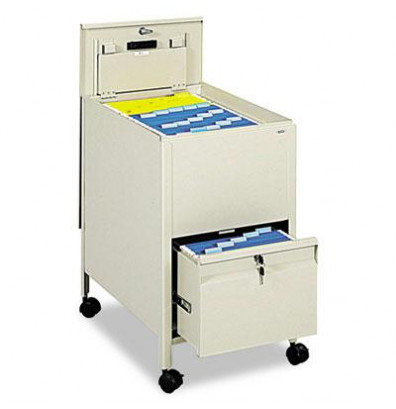 mobile file cart safco 17 quot w locking mobile tub file cart with drawer putty 23437