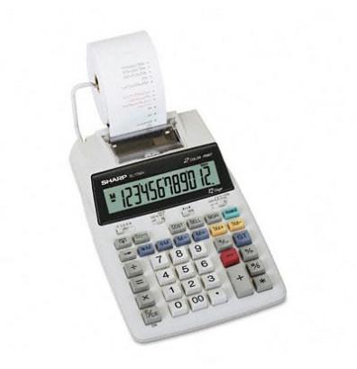 Sharp EL-1750V Two-Color 12-Digit Printing Calculator