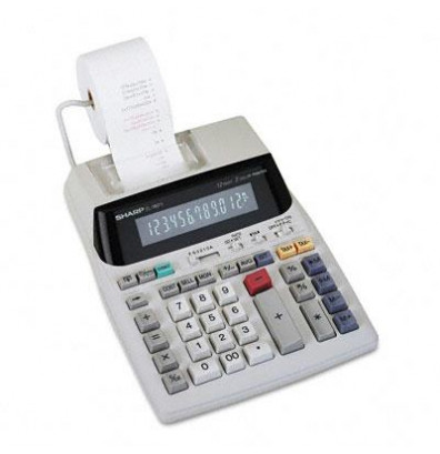 Sharp EL-1801V Two-Color 12-Digit Printing Calculator
