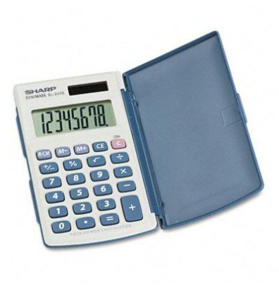 Sharp EL-243SB Solar 8-Digit Pocket Calculator