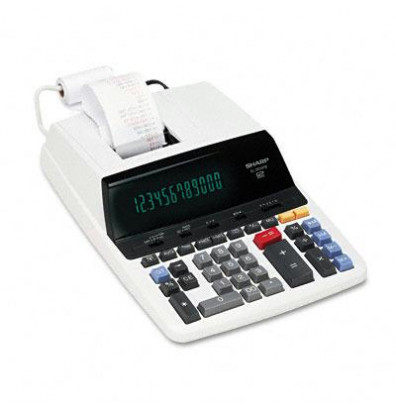 Sharp EL2630PIII Two-Color 12-Digit Printing Calculator