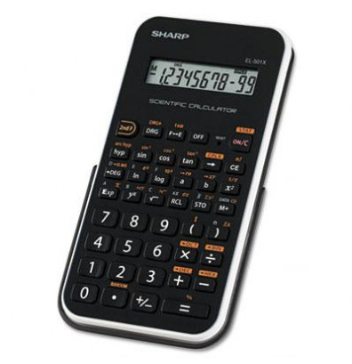 Sharp EL-501XBWH 10-Digit Scientific Calculator