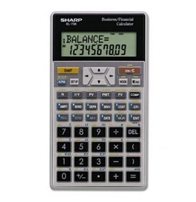 Sharp EL-738C 10-Digit Financial Calculator