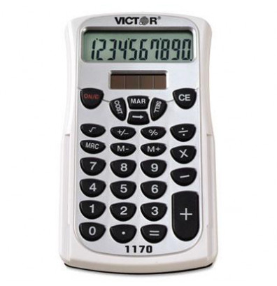 Victor 1170 10-Digit Handheld Business Calculator with Slide Case