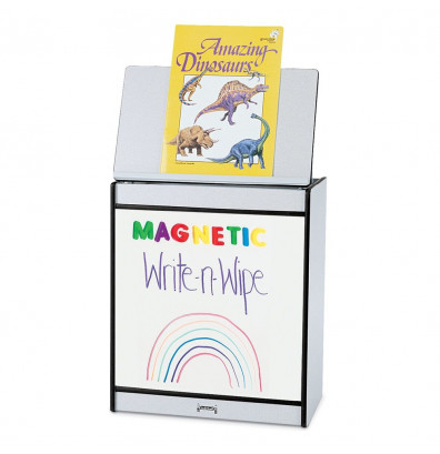 """Jonti-Craft Rainbow Accents 24"""" W Write-n-Wipe Magnetic Dry Erase Mobile Big Book Easel (Shown in Black)"""