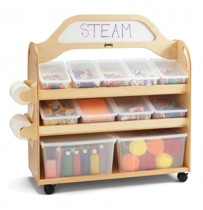 Jonti-Craft STEAM Double-Sided 11 Cubby Tray Classroom Storage