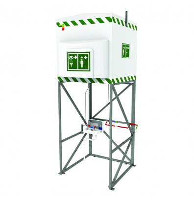 Justrite 317 Gal. Emergency Tank Shower with Eyewash Station