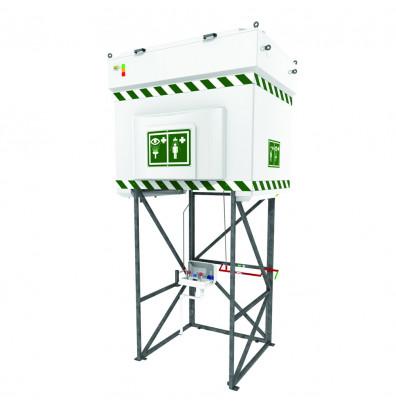 Justrite 528 Gal. Emergency Tank Shower with Eyewash Station