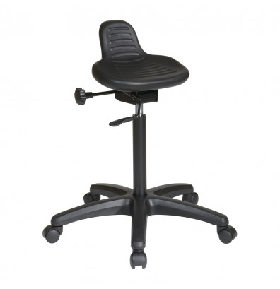 Office Star Work Smart Seat Angle Adjustment Saddle Stool