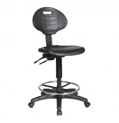 Office Star Work Smart Adjustable Footrest Ergonomic Drafting Chair