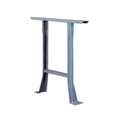 "Tennsco L-2830 Flared 28"" H Fixed Leg for 30"" D Workbench shown in Medium Grey"