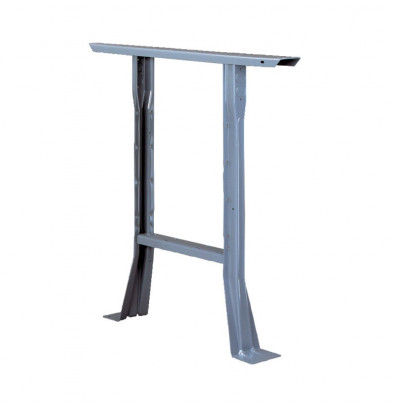 Tennsco Flared Legs for Workbenches (Fixed Height) - Shown in Medium Grey