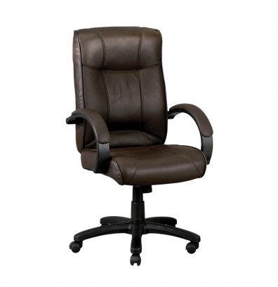 Eurotech Odyssey LE9406BRN Leather High-Back Executive Office Chair