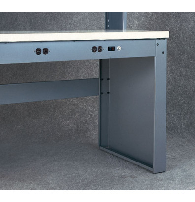 Tennsco LP-3230 Panel Legs for Electronic Workbenches - Panel Legs only. Shown in Medium Grey.