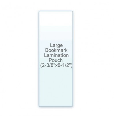 "Akiles 10 Mil Large BookMark Size 2-3/8"" x 8-1/2"" Laminating Pouches (500 pcs)"