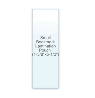 "Akiles 5 Mil Small BookMark Size 1-3/8"" x 5-1/2"" Laminating Pouches (500 pcs)"