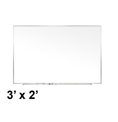 Ghent M1-23-1 Traditional Centurion 3 ft. x 2 ft. Aluminum Frame Porcelain Magnetic Whiteboard