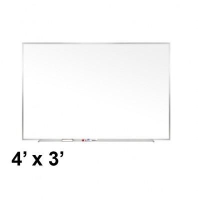 Ghent M1-34-1 Traditional Centurion 4 ft. x 3 ft. Aluminum Frame Porcelain Magnetic Whiteboard