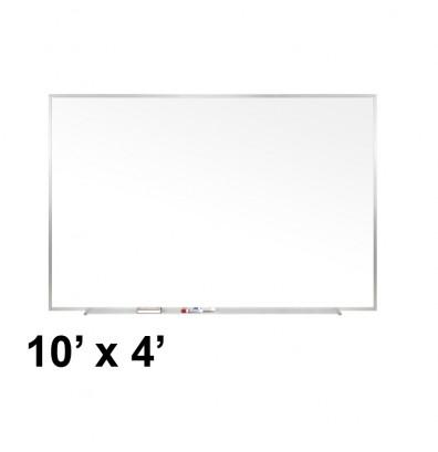 Ghent M1-410-4 Traditional Centurion 10 ft. x 4 ft. Aluminum Frame Porcelain Magnetic Whiteboard