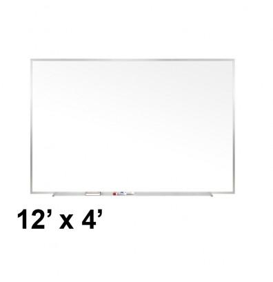 Ghent M1-412-4 Traditional Centurion 12 ft. x 4 ft. Aluminum Frame Porcelain Magnetic Whiteboard