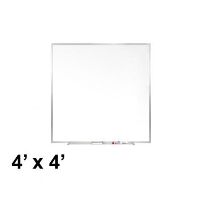 Ghent M1-44-4 Traditional Centurion 4 ft. x 4 ft. Aluminum Frame Porcelain Magnetic Whiteboard