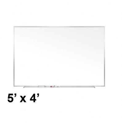 Ghent M1-45-4 Traditional Centurion 5 ft. x 4 ft. Aluminum Frame Porcelain Magnetic Whiteboard