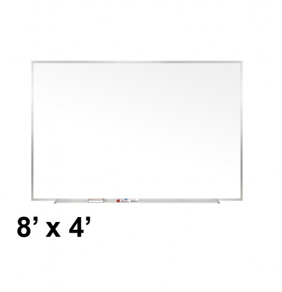 Ghent M1-48-4 Traditional Centurion 8 ft. x 4 ft. Aluminum Frame Porcelain Magnetic Whiteboard