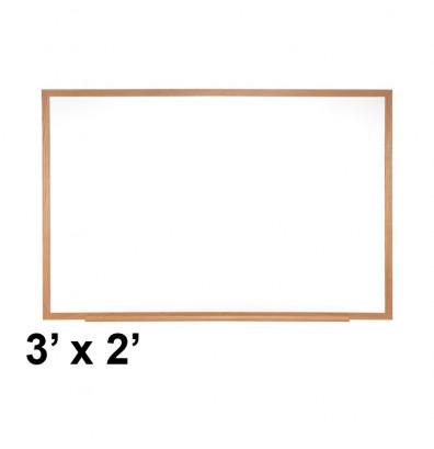 Ghent M1W-23-1 Traditional Centurion 3 ft. x 2 ft. Wood Frame Porcelain Magnetic Whiteboard