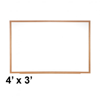 Ghent M1W-34-1 Traditional Centurion 4 ft. x 3 ft. Wood Frame Porcelain Magnetic Whiteboard