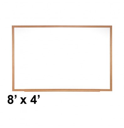 Ghent M1W-48-4 Traditional Centurion 8 ft. x 4 ft. Wood Frame Porcelain Magnetic Whiteboard