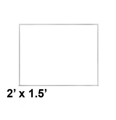 Ghent M2-18-1 2 ft. x 1.5 ft. Aluminum Frame Melamine Whiteboard