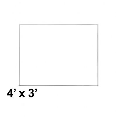 Ghent M2-34-1 4 ft. x 3 ft. Aluminum Frame Melamine Whiteboard