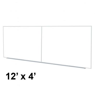 Ghent M2-412-4 12 ft. x 4 ft. Aluminum Frame Melamine Whiteboard