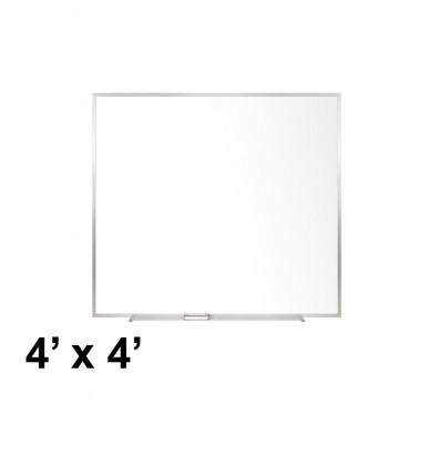 Ghent M2-44-4 4 ft. x 4 ft. Aluminum Frame Melamine Whiteboard