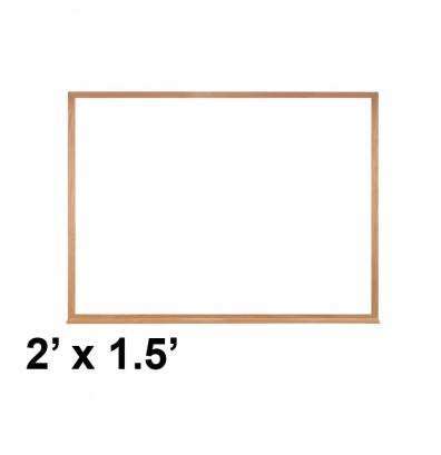Ghent M2W-18-1 2 ft. x 1.5' Wood Frame Melamine Whiteboard