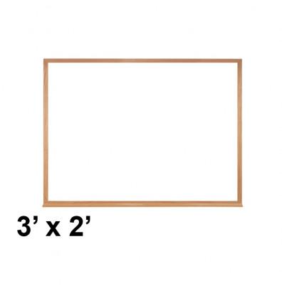 Ghent M2W-23-1 3' x 2' Wood Frame Melamine Whiteboard