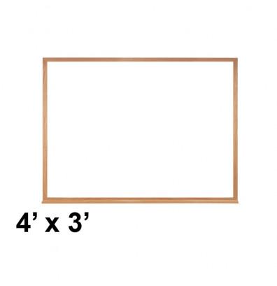 Ghent M2W-34-1 4 ft. x 3 ft. Wood Frame Melamine Whiteboard