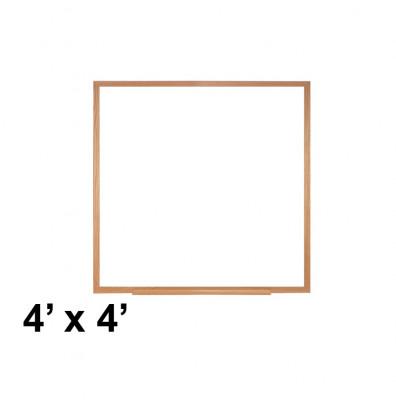 Ghent M2W-44-4 4 ft. x 4 ft. Wood Frame Melamine Whiteboard