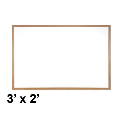 Ghent M3W-23-1 Spectra 3 ft. x 2 ft. Wood Frame Magnetic Painted Steel Whiteboard