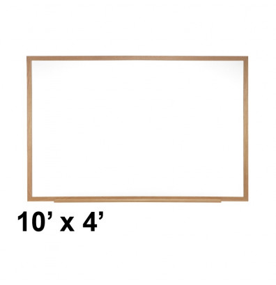 Ghent M3W-410-4 Spectra 10 ft. x 4 ft. Wood Frame Magnetic Painted Steel Whiteboard