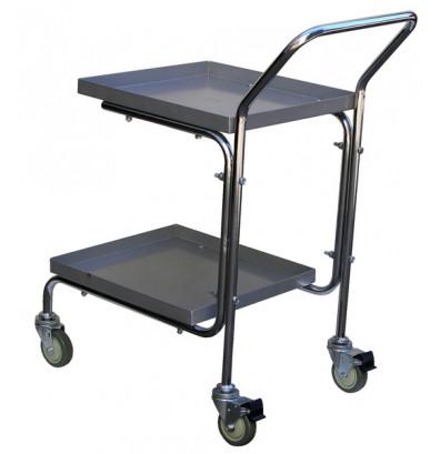 Vestil MAIL-55 Double Basket Tray Mail Cart