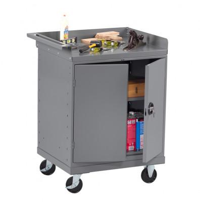 """Tennsco 33"""" Wide Mobile Workbenches (1 Double-Door CabinetModel Shown)"""