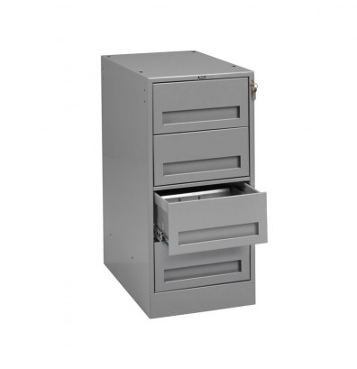 Tennsco MD-1524 Drawer Cabinet with 4 box drawers - Shown in medium grey