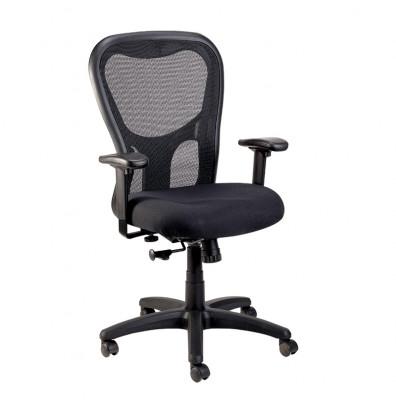 Eurotech Apollo Synchro-Tilt Mesh-Back Fabric High-Back Task Chair
