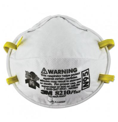 3M Particulate Respirator 8210Plus, N95, 20/Pack
